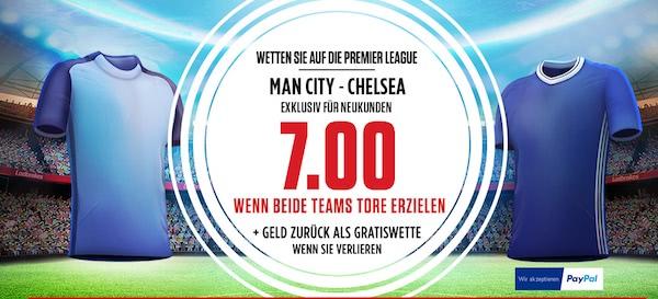Quotenhammer zu City VS Chelsea!