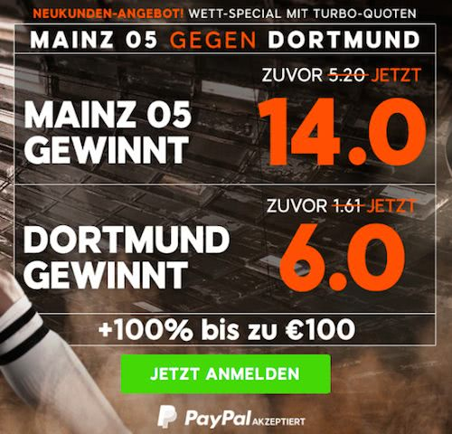 Mainz Dortmund 888sport Quoten