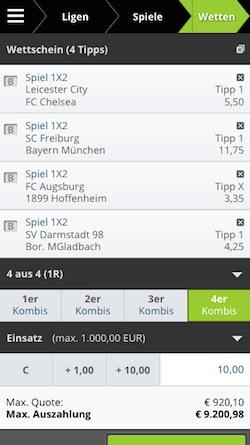 Tiplix App Wettschein