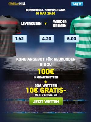 Leverkusen Bremen Quoten