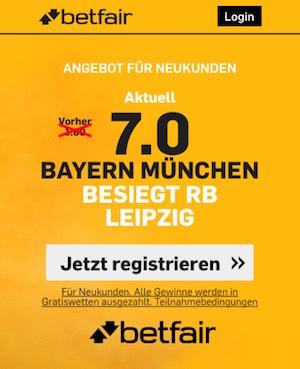 Leipzig vs Bayern Quoten