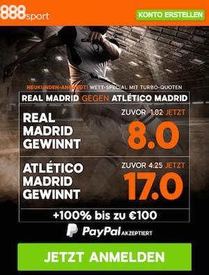 Real Madrid vs Atletico Quoten