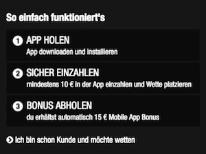 X Tip mobile App Bonus AGB