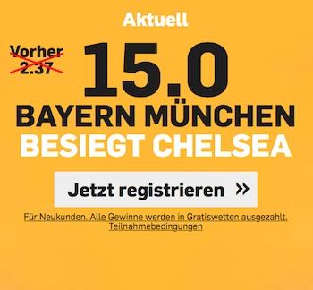Betfair Quoten Bayern vs Chelsea