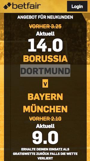 BVB Bayern Quoten