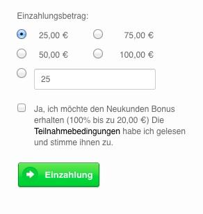 Skrill Einzahlung