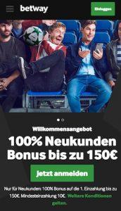 Betway 150 Euro Bonus