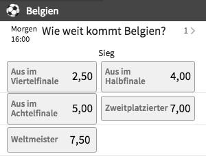 Belgien Team Spezial Tipico
