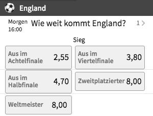 England Team Spezial Tipico