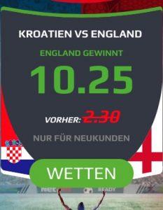 Netbet Boost England besiegt Kroatien