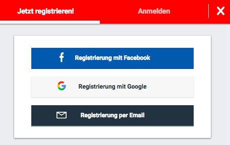 Betano registrieren