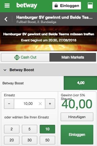 Boost HSV Betway