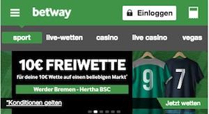 Betway Freebet zu Werder Bremen gegen Hertha BSC Berlin