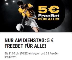 Freebet Promotion zur Champions League bei Bwin