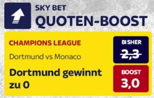 Skybet Quotenboost Dortmund - Monaco
