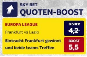 Skybet erhoehte Quote Frankfurt - Lazio