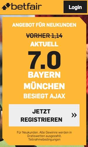 Betfair Boost Bayern CL