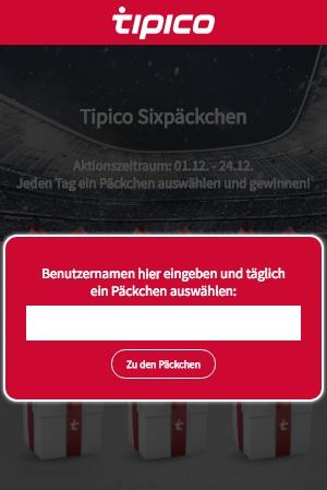 Tipico Sixpäckchen Aktion