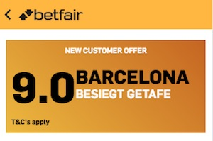 Betfair Boost Getafe - Barcelona, 06.01.19
