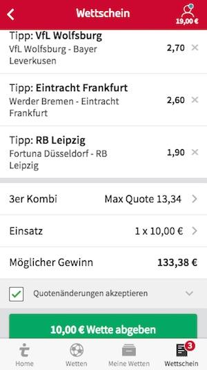 Tipico Wettschein Bundesliga