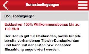 tipwin deutschland neukundenbonsu 100 euro
