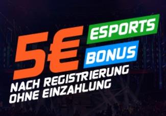 5 Euro Gratiswette Esportsbetting
