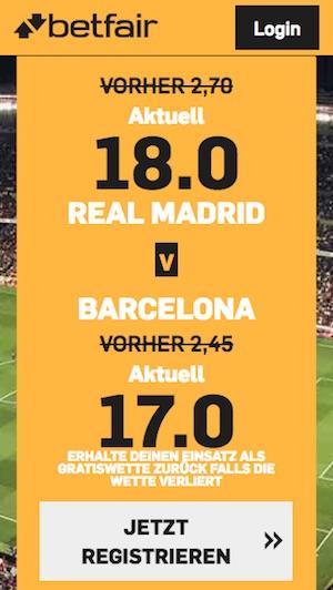 betfair boost real madrid - barcelona, 27.02.19