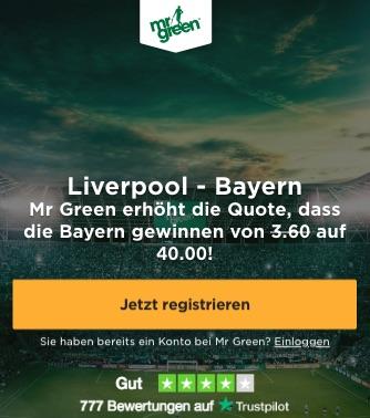 Bayern Mr Green Boost