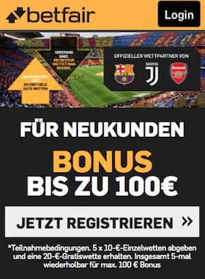 betfair neukundenbonus 100 euro