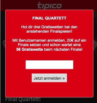 Tipico 2019 Quartett Einladung