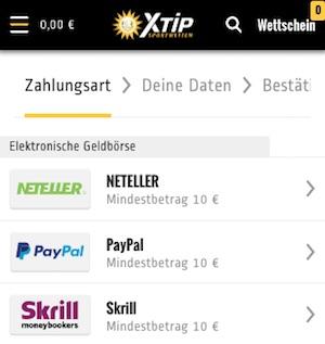 xtip einzahlungsmethoden