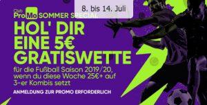 Moplay Gratiswette über 5€ Fusballsaison 2019/2020