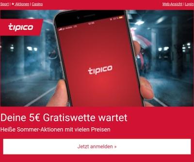 SMS Service bei Tipico
