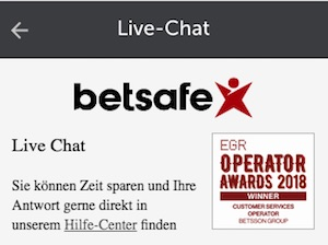 betsafe live chat