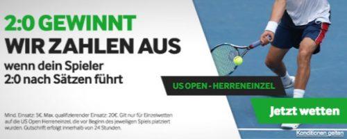 Betway Absicherung US Open