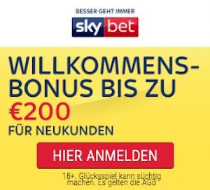 skybet bonus bis 200 euro