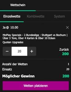 Wettschein MoPlay Upgrade