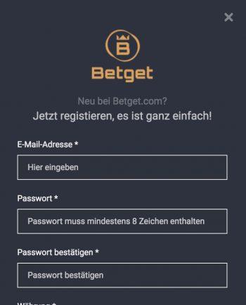 Betget Registrierung