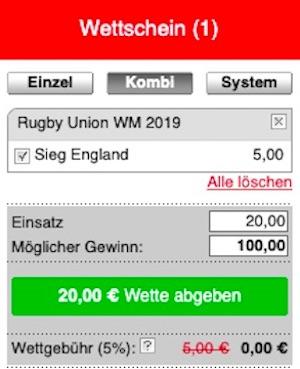 Tipico Rugby WM Wettschein