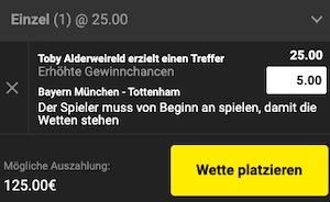 Unibet Bayern Tottenham Quoten Boost
