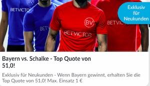 Betfair Bayern Schalke Neukundenbonus