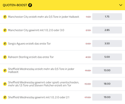 Sky Bet Quoten Boost