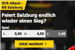 Interwetten Altach vs. Salzburg Quoten