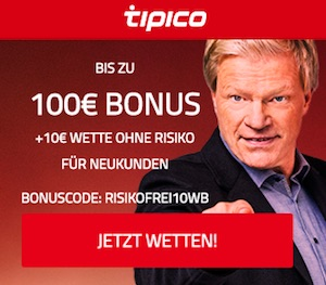 Tipico Bonuscode 2020