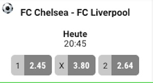 XTip Chelsea Liverpool Quoten