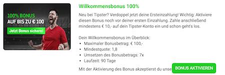 Tipster Bonus aktivieren
