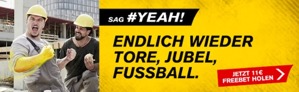 Interwetten 11€ Freebet