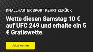 Unibet UFC 249 5€ Gratiswette