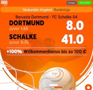 888sport Dortmund Schalke Boost