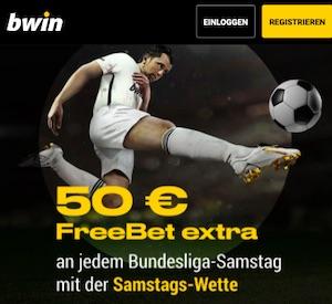 Bwin Samstagswette 50€ FreeBet